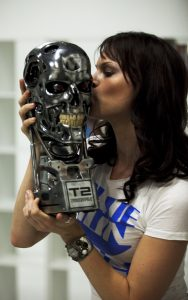 Michele Boyd with Terminator Bust