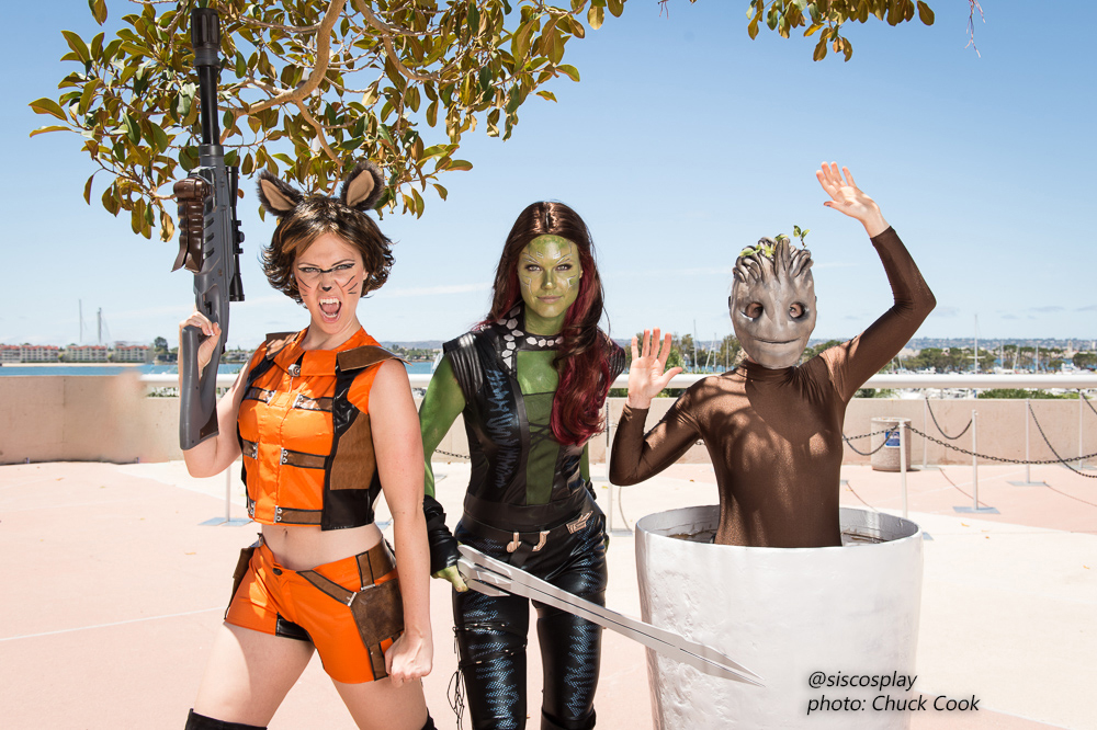 Chuck Cook Michele Boyd SisCosplay Guardians of the Galaxy cosplay San Diego Comic Con 2015