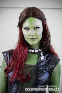 Gamora from Guardians of the Galaxy cosplay by Michele Boyd at SDCC 2015