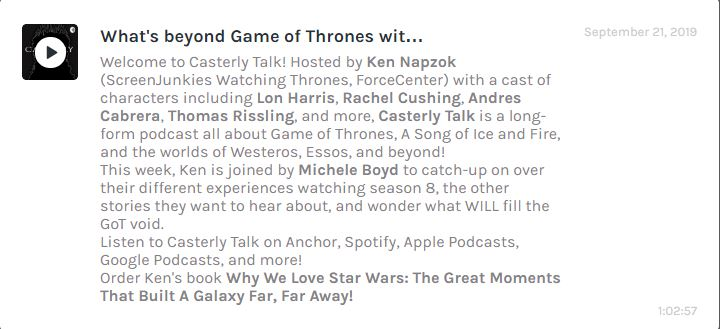 Michele Boyd joins Ken Napzok on Casterly Talk podcast