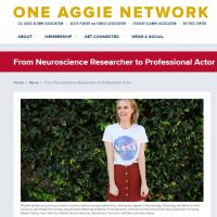 From Neuroscience Researcher to Professional Actor: Michele Boyd in UCDavis One Aggie Network