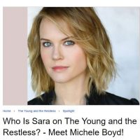 Who is Sara on The Young and the Restless? Meet Michele Boyd!